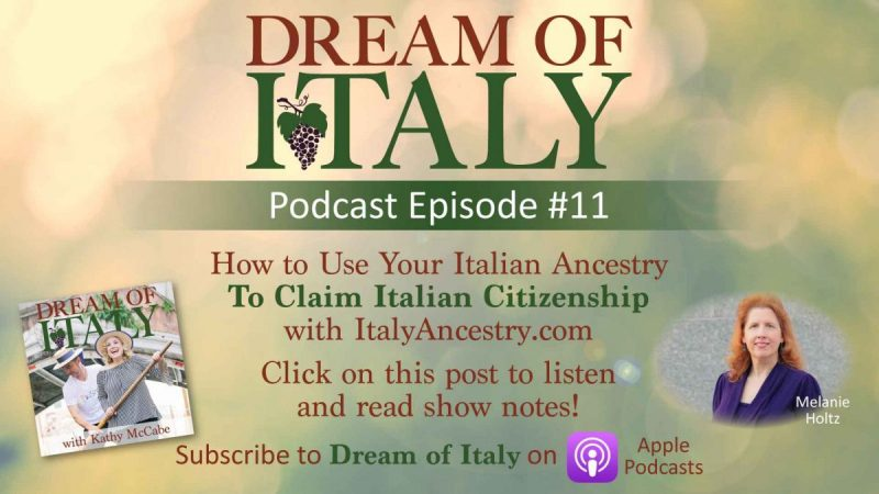 Melanie on the Dream of Italy podcast